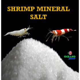 750gr Mineral sales de gambas para gambario. Crystal, neocaridina caridina