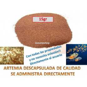 Artemia descapsulada 15gr