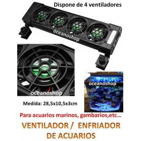 Refrigerador enfriador de 4 ventiladores en linea