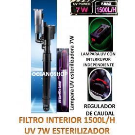 Filtro interior 1500l/h lampara UV de 7W