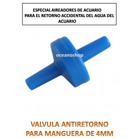 Valvula antiretorno oxigenador y co2