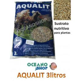 GRAVA sustrato natural Aqualit abono especial plantas ACUARIO pecera