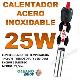 calentador acero inoxidable 25W RS 139 acuario barato