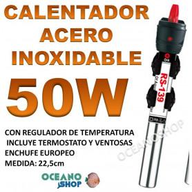 calentador acero inoxidable 50W RS 139 acuario barato