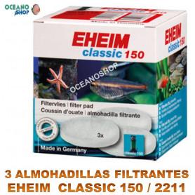 almohadillas filtrantes eheim classic 150 2211 X3 blancas