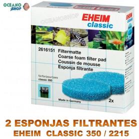 esponja filtrante eheim classic 350 2215 X2 azules