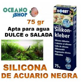 silicona silikon kleber negra 75g hobby acuarios