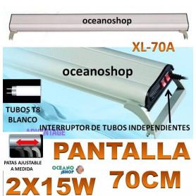 pantalla acuario 2x15w t8 xl-70a xilong