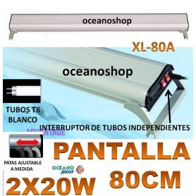 pantalla acuario 2x20w t8 xl-80a xilong PECERA
