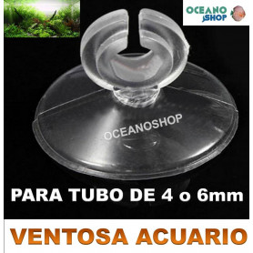 ventosa acuario tubo co2 aire 4mm 6mm transparente
