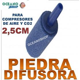 PIEDRA DIFUSOR Cilindrico de 2,5cm Aire Oxigenador CO2 bomba Acuario difusora
