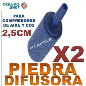 piedra difusora difusor acuario co2 o2 oxigeno compresor 2,5cm X2