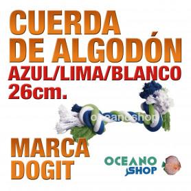 DOGITCUERDADEALGODÓNAZUL/LIMA/BLANCO26cm