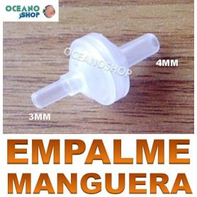 empalme manguera tubo flexible 3 mm 4 mm 4mm 3mm acuario jardin