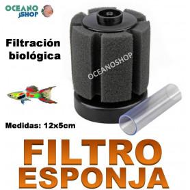 filtro esponja biologico foamex acuario barato 12cm