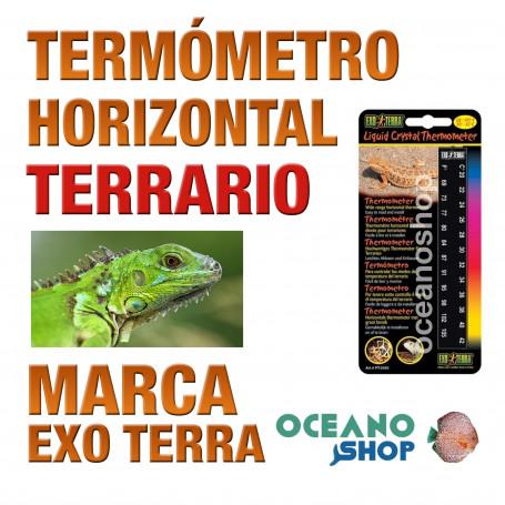 Termometro Horizontal Terrarios Reptiles Cristal Liquido Exo Terra Termómetros de resistencia de silicio. oceanoshop