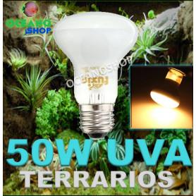 Bombilla 50w UVA para terrarios reptiles tortugas anfibiosincubadoras