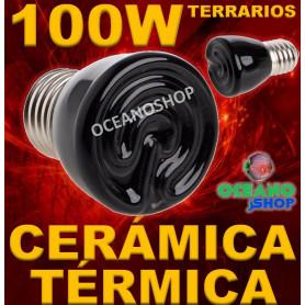 LAMPARA BOMBILLA 99% CALOR 100W CERAMICA TERMICA REPTIL terrario TORTUGA PAJARO