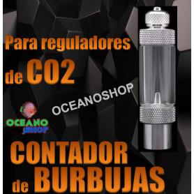 regulador co2 burbujas contador cuenta acuario bombona