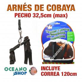 ARNÉS Y CORREA PARA COBAYAS AJUSTABLE CALIDAD 32,5cm Máximo de PECHO