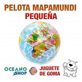 Pelota Mapamundi de Goma Pequeña Perro Multicolor