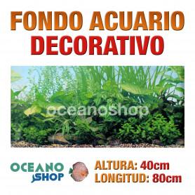 Fondo 80x40cm acuario decorativo vinilo fondo plantas marinas marino peces calidad