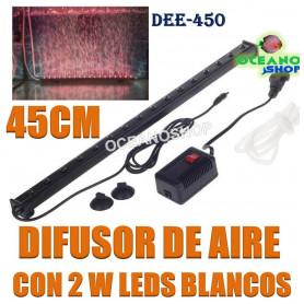 difusor aire oxigeno cortina led 2w 45cm deeboo dee-450