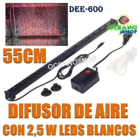 difusor aire oxigeno cortina led 2,5w 55cm deeboo dee-600