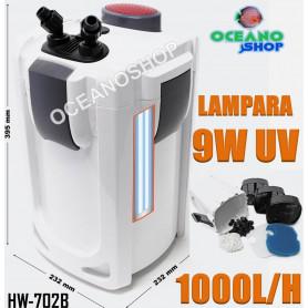 hw702b 9w uv lampara ultravioleta filtro exterior externo sunsun algas antialgas acuario