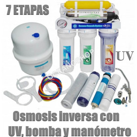 osmosis inversa 6 etapas bomba manometro romoon uv 50g membrana