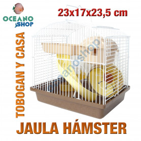 Jaula hámster pequeños roedores 23x17x23,5 cm