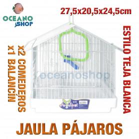 Jaula pájaros 27,5x20,5x24,5 cm