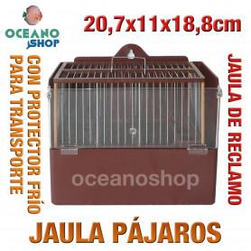 Jaula reclamo pájaros con protector 20,7x11x18,8 cm