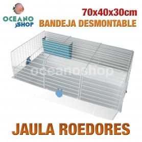 Jaula roedores bandeja desmontable 70x40x30 cm