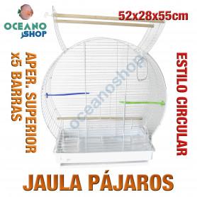 Jaula pájaro grande circular 55x28x55 cm