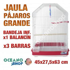 Jaula pájaro apertura frontal 45x27,5x63 cm