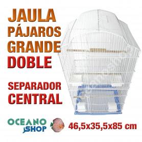 Jaula pájaro doble con separador 46,5x36x95 cm