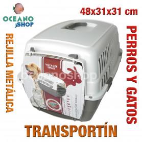 Transportín perros y gatos 48x31x31cm