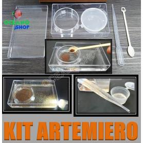 kit artemiero artemia incubadora alevienes cria acuario discos salina tamiz