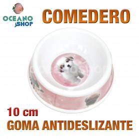 Comedero gato perro antideslizante 10 cm