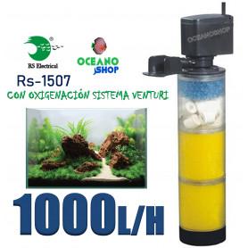 Filtro interno 1000l/h rs-1507 rs electrical  con foamex y cerámica 13w