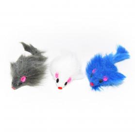 Juguete Pack x3 Ratones Gatos Varios Colores Oceanoshop