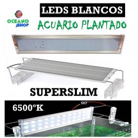 Pantalla leds blancos SUPERSLIM 120-150cm 48W 4900 LUMENES