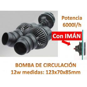 BOMBA RECIRCULACION CON IMAN 6000L/h Vibracion para Acuario, Simulador de Olas