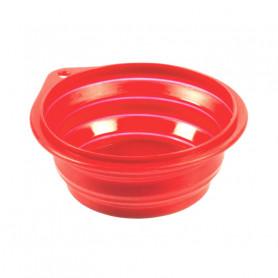 Comedero Viaje Silicona Rojo Duvo 250 ml 11 cm
