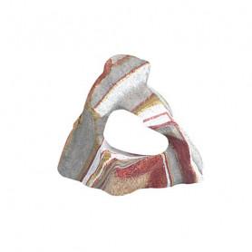 Roca Resina Arcoiris Cavidad Flamingo 11x11x5,1 cm