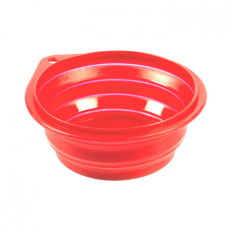 Comedero Viaje Silicona Rojo Duvo 1000 ml 18 cm