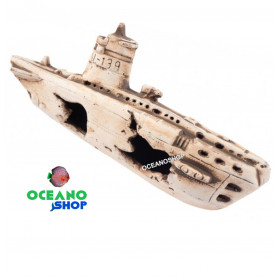 N-22026 submarino hundido figura decorativa acuario