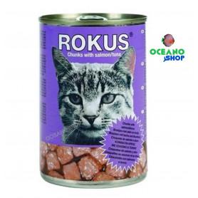 Rokus gato salmon atun Lata 410gr