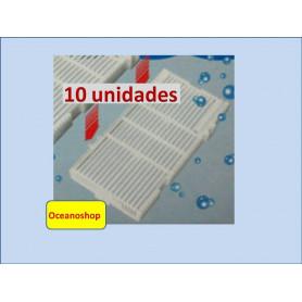 10 placas para filtro de placa 14x7cm